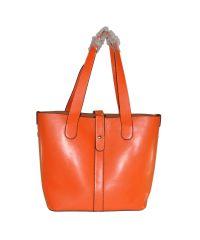 Женская кожаная сумка 7310-02 оранжевая