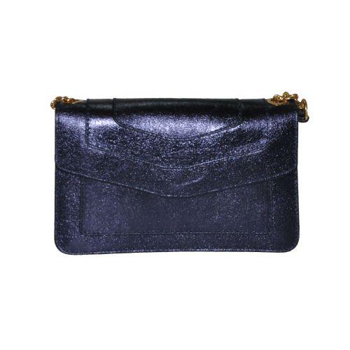 Женский кожаный клатч 997 синий Италия