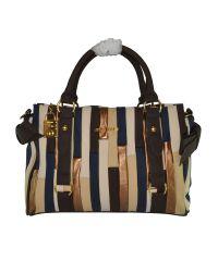 Полосатая женская сумка Rechteck коричневая