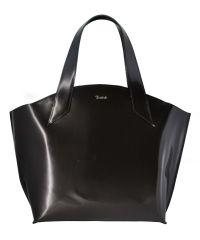 Женская кожаная сумка Shopper Belali полированная черная