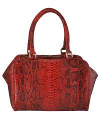 Женская кожаная сумка Belali Snake красная