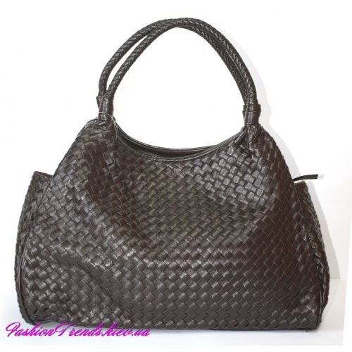 Женская сумка Bottega Veneta Sea коричневая