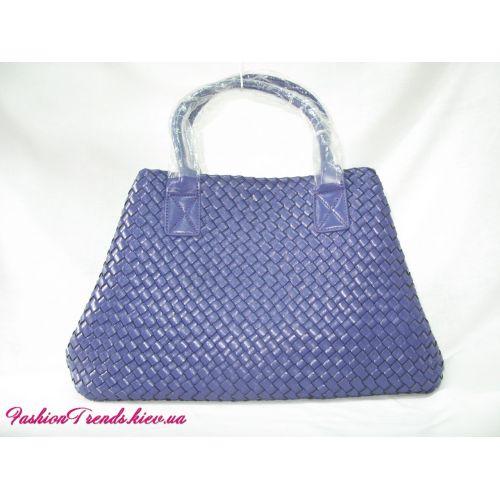 Женская сумка Bottega Veneta Cabat синяя