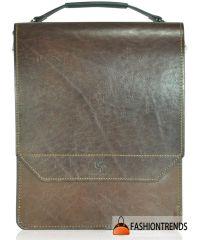 Мужская сумка Grande Pelle коричневая