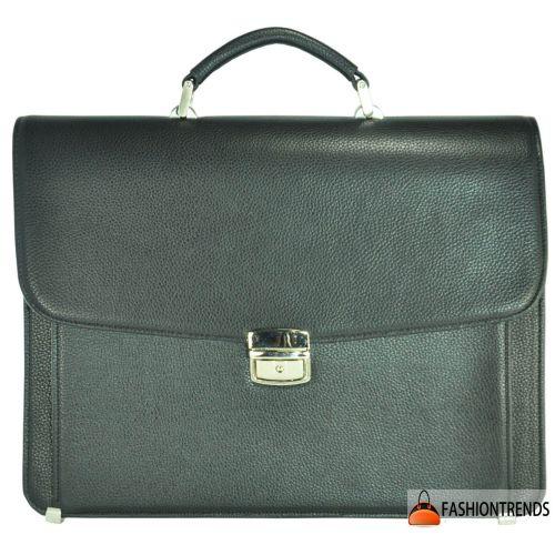 Мужской кожаный портфель М45 черный