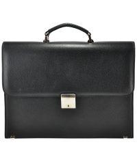 Мужской портфель М49 кожаный черный