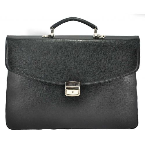 Мужской портфель М64 кожаный черный
