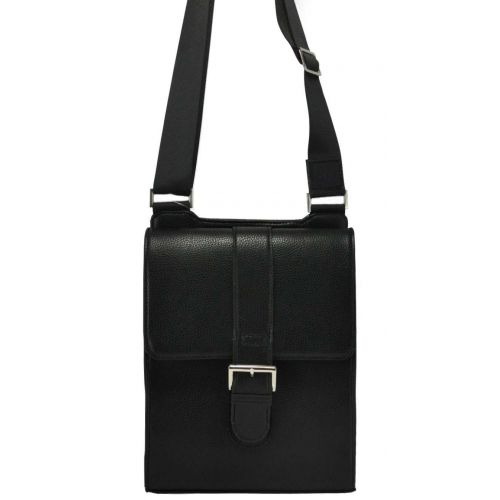 Мужская кожаная сумка M62 черная