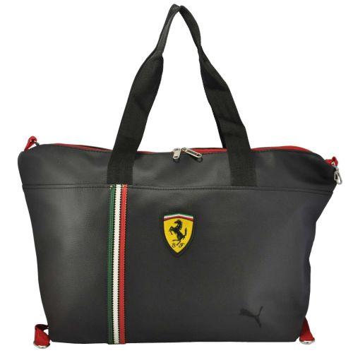 Спортивная сумка Puma Ferrari черная с желтым