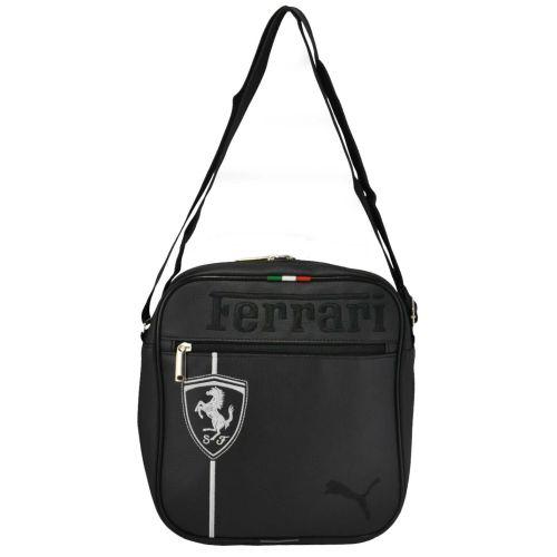 Сумка через плечо Puma Ferrari черная с серебристым