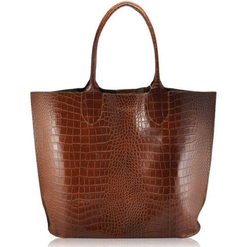 Женская сумка poolparty-amphibia-brown кожаная коричневая