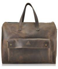 Мужской кожаный портфель Agruz M-04 коричневый