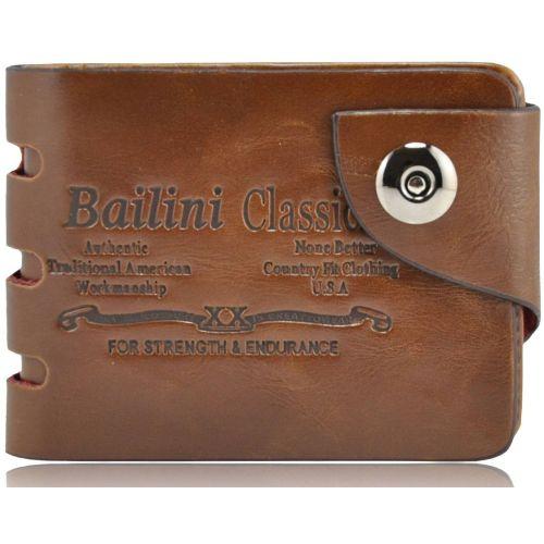 Мужской кошелек Bailini HF-236 коричневый