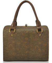 Женская сумка 5315 кружево бежевая