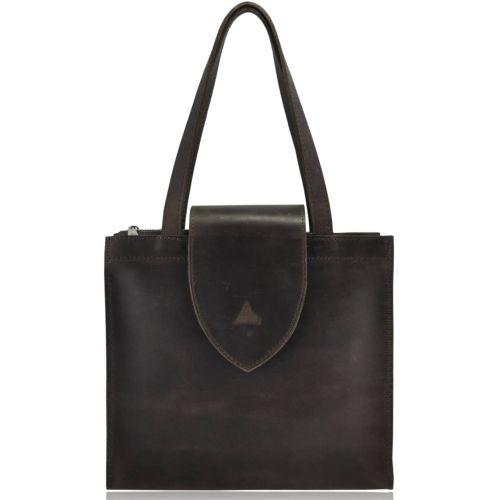 Женская кожаная сумка W-01 коричневая