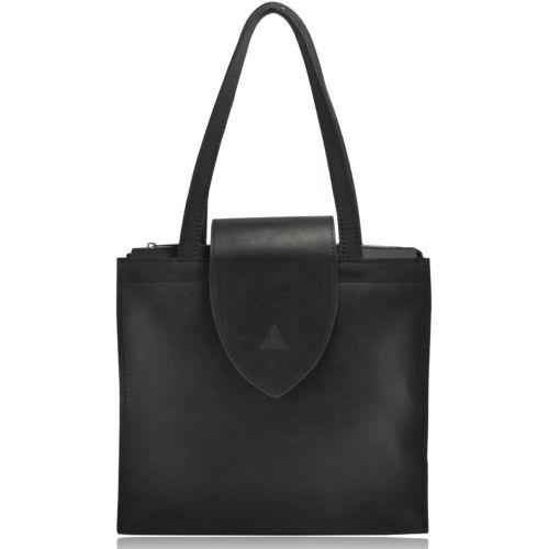 Женская кожаная сумка W-01 черная