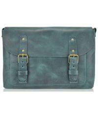 Кожаная сумка Babak Сrossbody 861077 зеленая