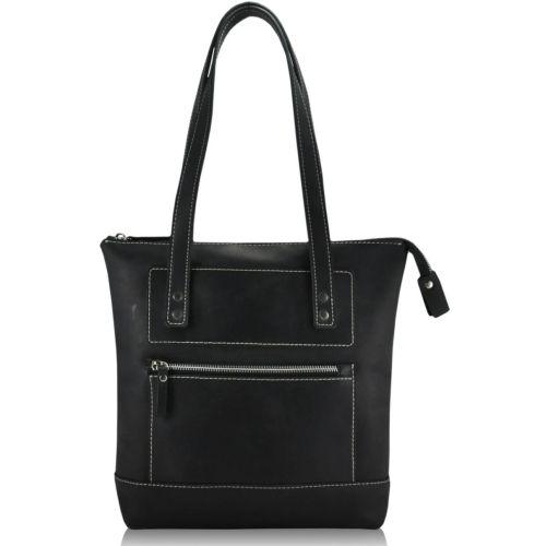 Женская кожаная сумка Megi черная