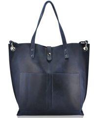 Женская кожаная сумка 857262 синяя