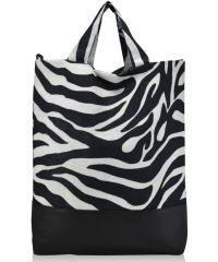 Женская сумка зебра черная
