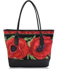 Женская сумка маки черная
