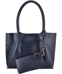 Женская кожаная сумка 827 синяя
