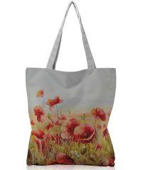 Женская сумка Маковое поле белая