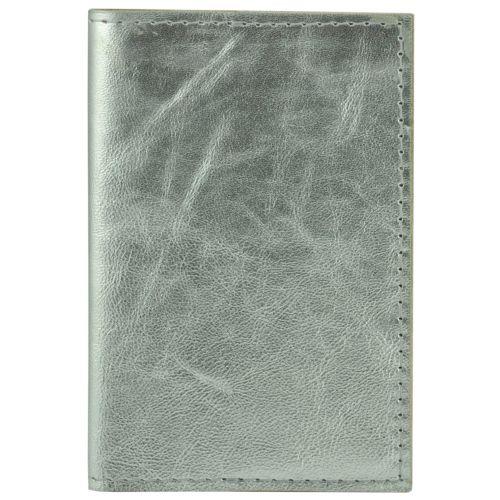 Обложка для паспорта кожаная U-01 серебристая