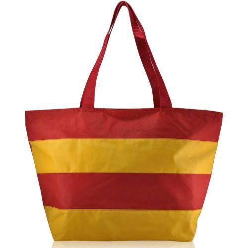 Пляжная сумка striped красная