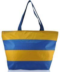 Пляжная сумка striped голубая