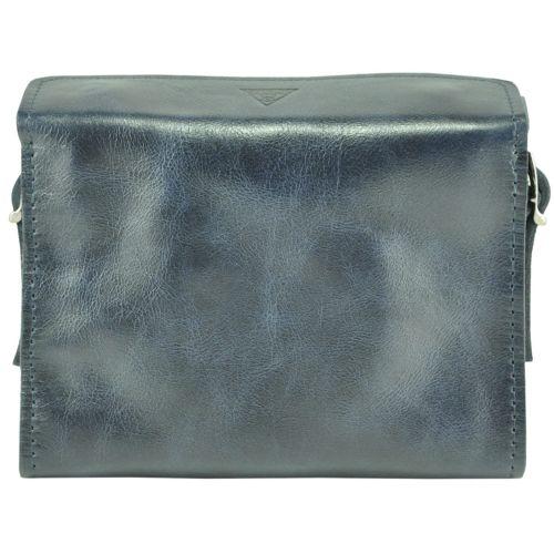 Женская кожаная сумочка Agruz Easy in city синяя