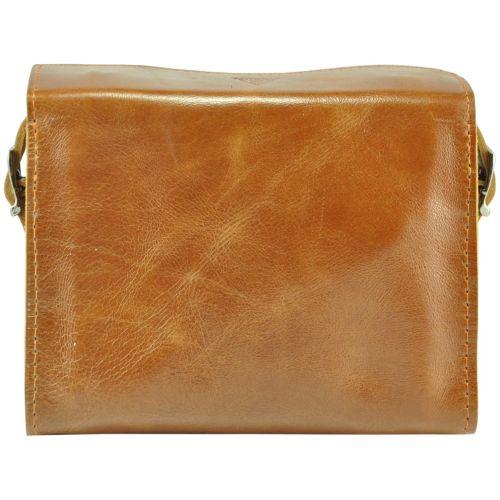 Женская кожаная сумочка Agruz Easy in city рыжая