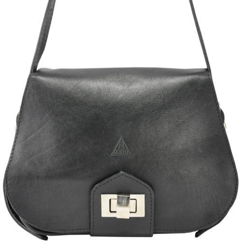 Кожаный клатч Agruz W-06 черный