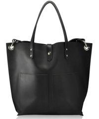 Женская кожаная сумка Babak Tote 857276 черная