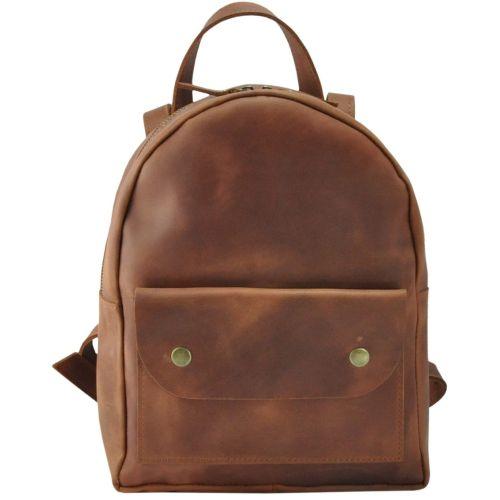 Кожаный рюкзак 873565 рыжий