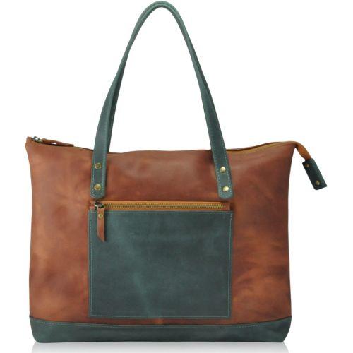 Женская кожаная сумка 8602 рыжая