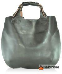 Женская кожаная сумка FIDELITTI Zara Tote bag коричневая