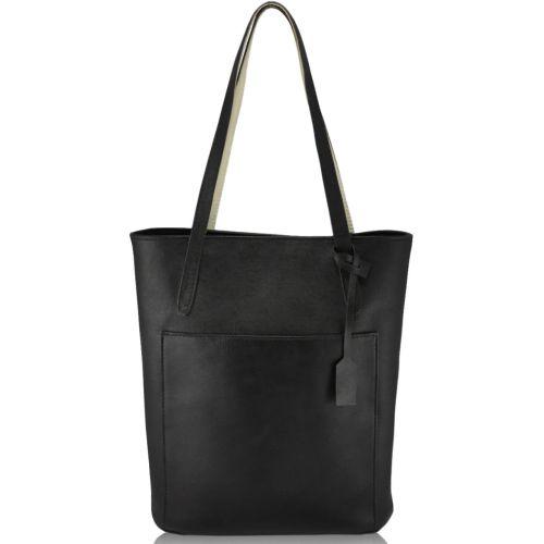Женская кожаная сумка FIDELITTI Safyan черная