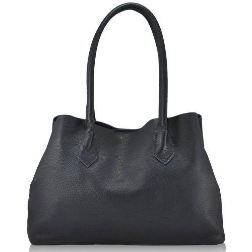 Женская кожаная сумка 848 синяя