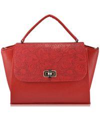 Женская сумка 5115 кружево красная