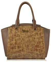 Женская сумка 0116 Crocodile бежевая