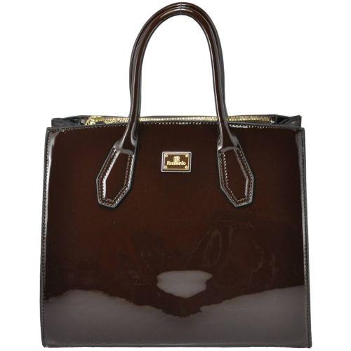 Женская сумка 90-03 лак шоколадная