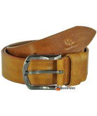 Мужской кожаный ремень Grande Pelle Labbro рыжий 3.5 см