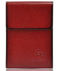 Визитница кожаная 24 Grande Pelle Vertikal красная