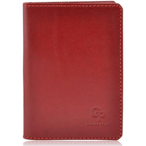 Обложка для парспорта кожаная Grande Pelle Gloss красная