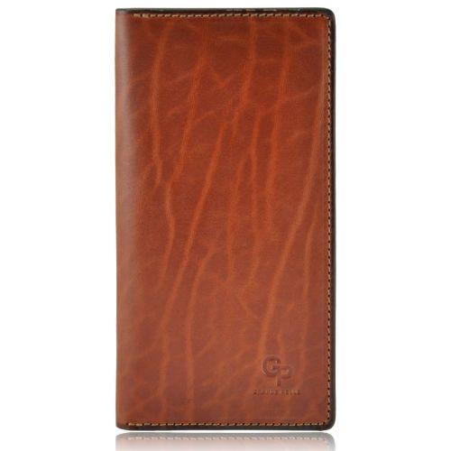 Мужской кошелек кожаный Grande Pelle Gloss рыжий