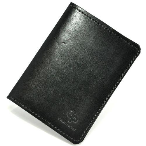 Обложка для парспорта кожаная Grande Pelle Gloss черная