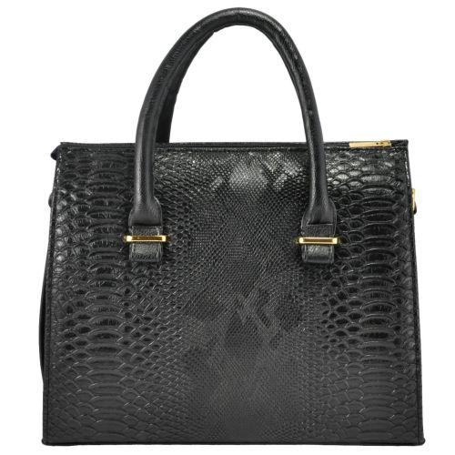 Женская сумка 4915 питон черная