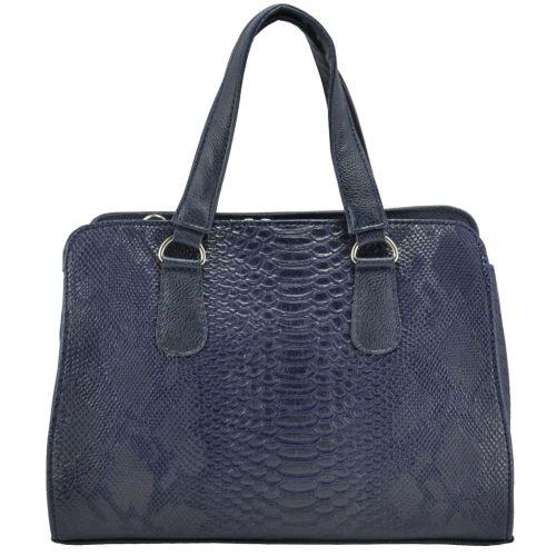 Женская сумка 1215 питон синяя