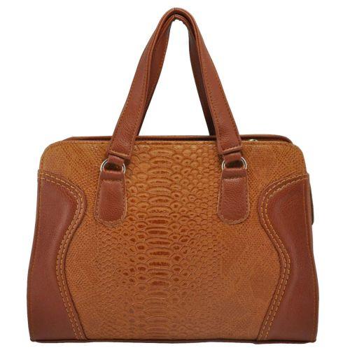 Женская сумка 1215 питон рыжая
